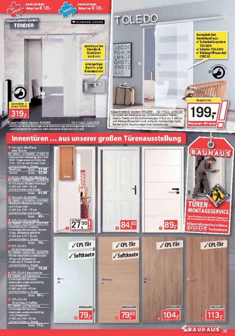 Bauhaus Katalog  Bauhaus Angebote  Oktober 2015  Seite No 3540 von Glastür Mit Zarge Bauhaus Bild