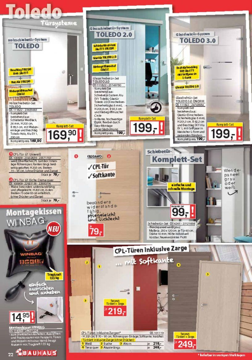 Bauhaus Katalog  Dezember 2016 Werbebeilage  Seite No 2240 von Glastür Mit Zarge Bauhaus Photo