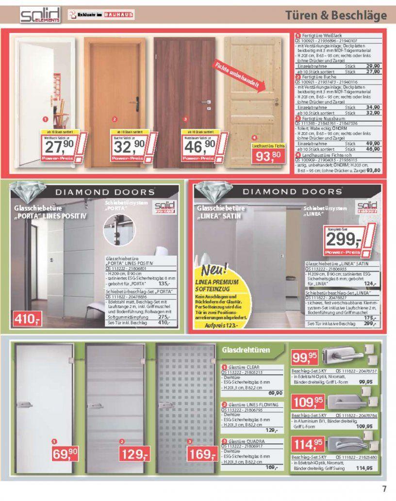 Bauhaus Katalog  Echtholzparkette Laminat  Seite No 732 von Glastür Mit Zarge Bauhaus Bild