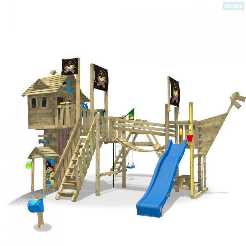 Baumhaus Aus Holz Neverland Gold Spielturm  Wickey von Baumhaus Mit Rutsche Und Schaukel Bild