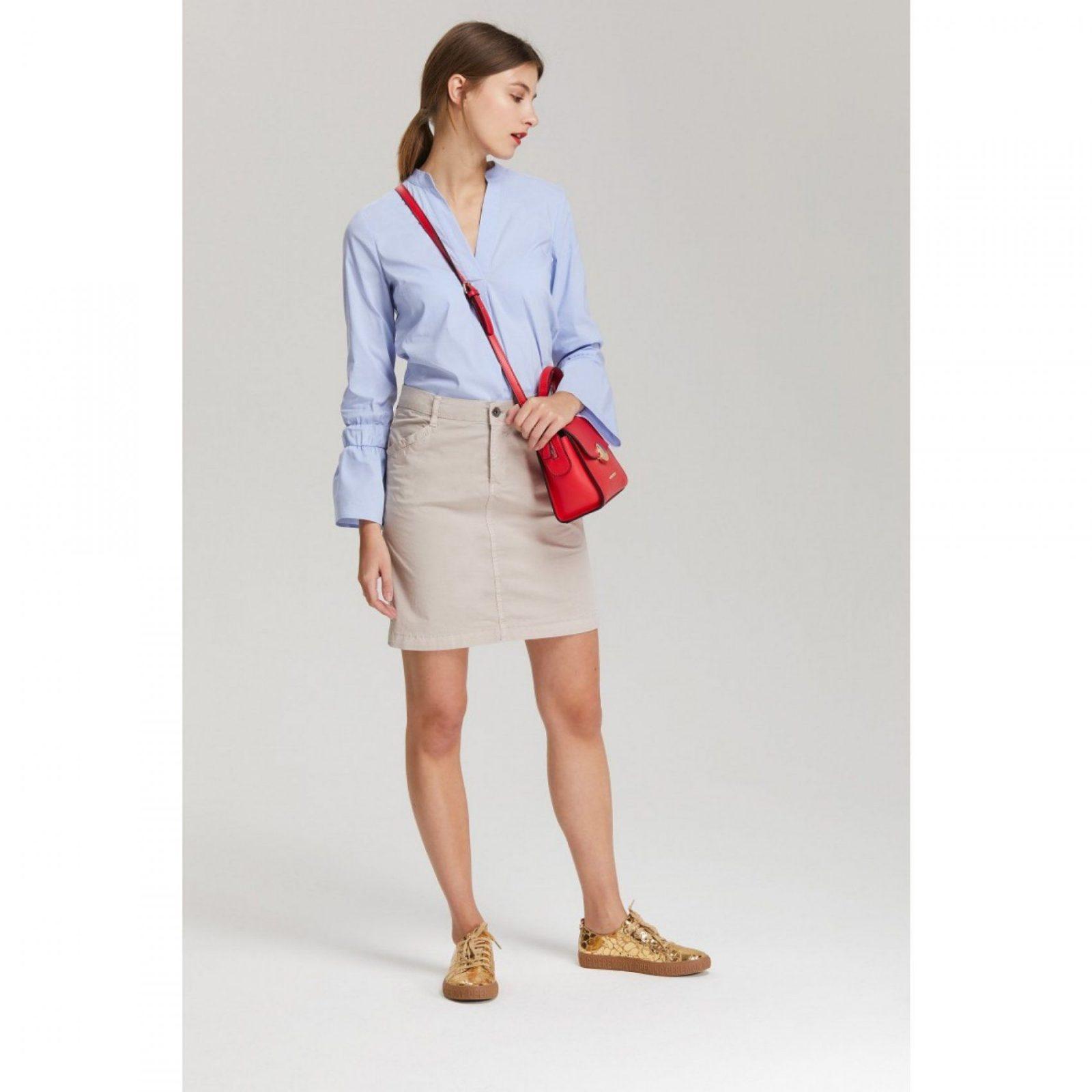 Baumwollrock Beige  More & More Onlineshop von Welche Farbe Passt Zu Beige Kleidung Photo