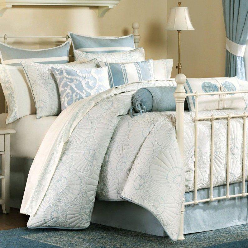 Bedroom Seashell Texture Two Tones Beach Themed Bedding For Adults von Beach Themed Bedding For Adults Bild