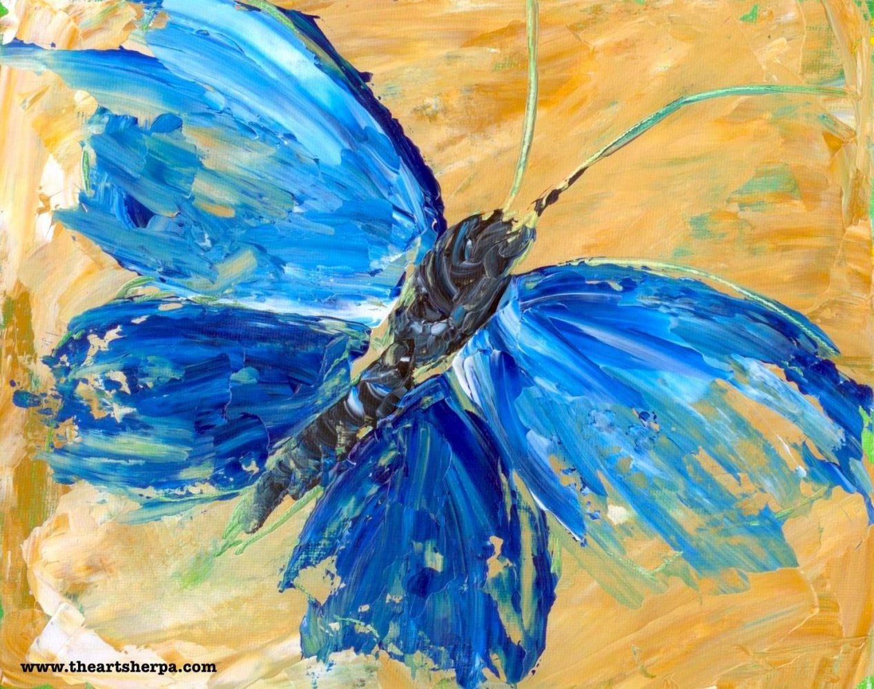 Beginner Acrylic Tutorial Abstract Butterfly Painting Httpswww von Acrylbilder Vorlagen Für Anfänger Photo