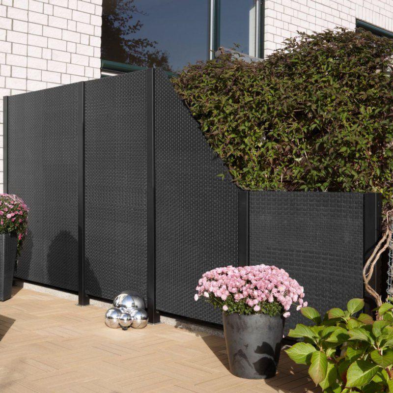 Best Moderne Designe Garten Idee  Designe Sichtschutz Garten von Sichtschutz Garten Kunststoff Grau Photo