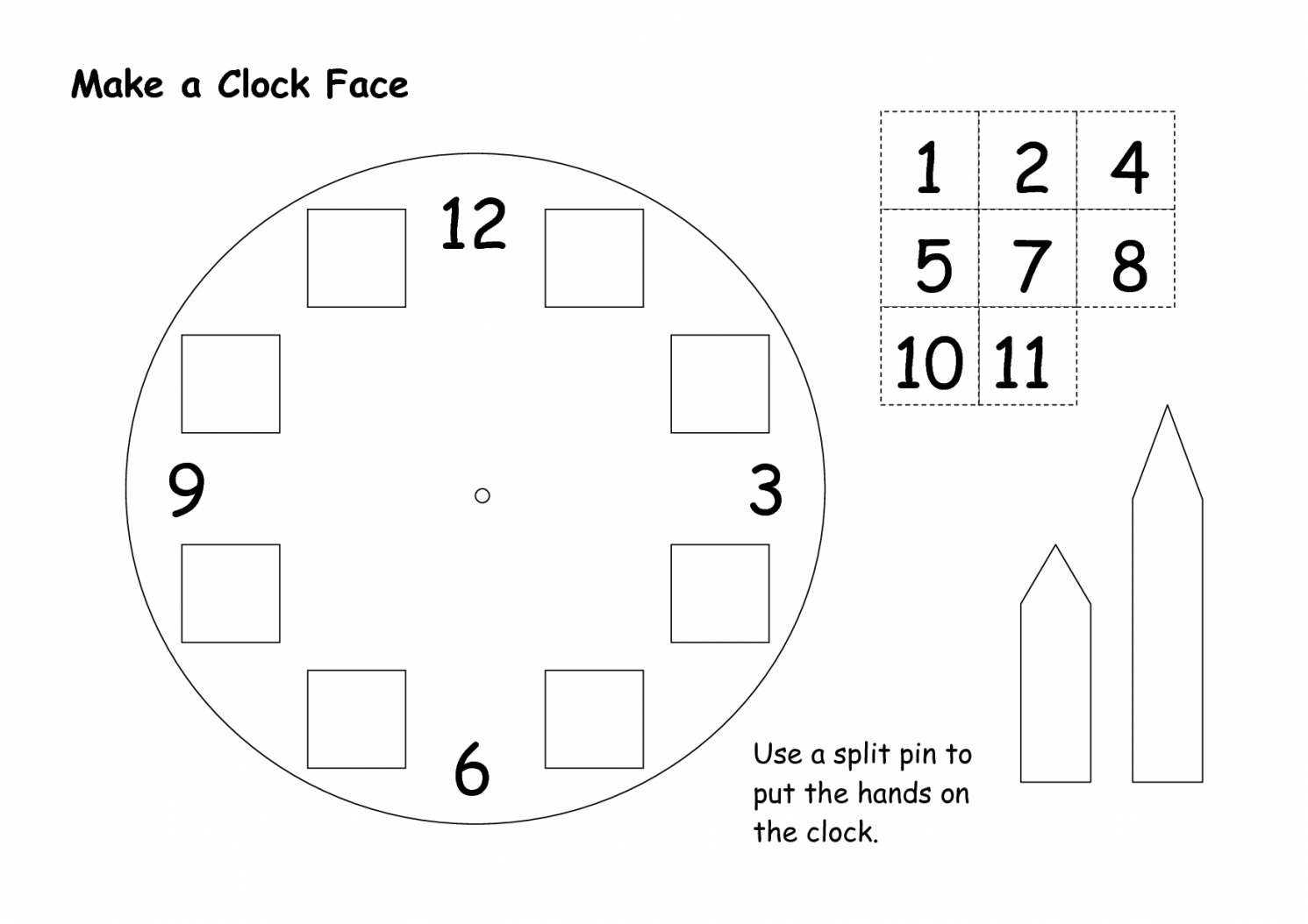 Best Photos Of Make A Paper Clock Template  Make Your Own Clock von Make Your Own Clock Bild