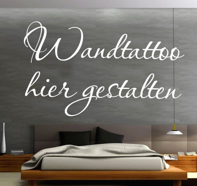 Beste Inspiration Wandtattoo Sprüche Selbst Gestalten Und Wunderbare von Sprüche Für Die Wand Schlafzimmer Bild