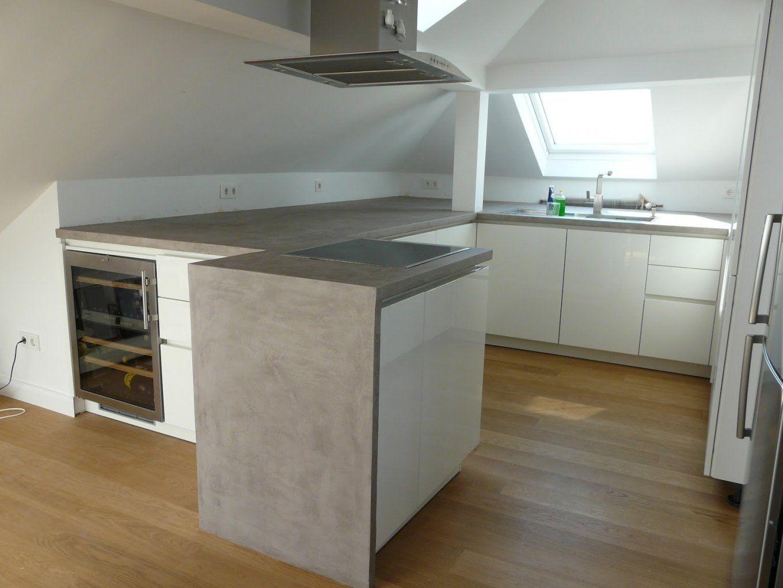 Betonarbeitsplatte Selber Machen Attraktiv Awesome Küche Aus Beton von Arbeitsplatte Betonoptik Selber Machen Bild