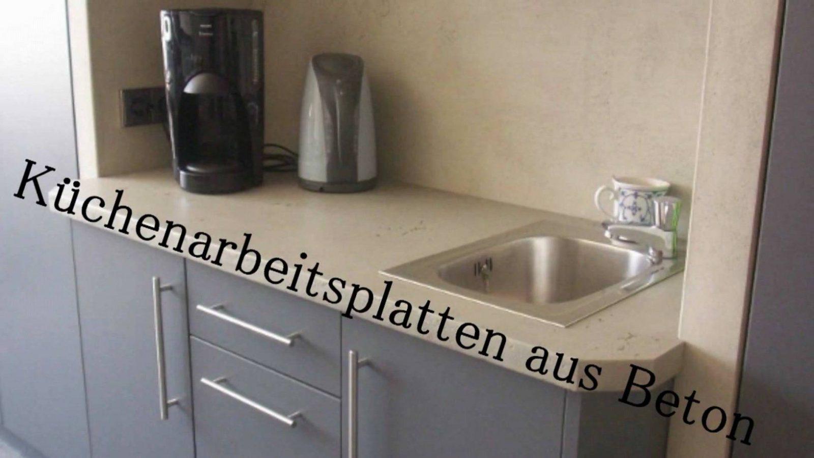 Betonmöbel Light Betondesign Fürs Wohnzimmer  Youtube von Küchenarbeitsplatte Beton Selber Machen Bild
