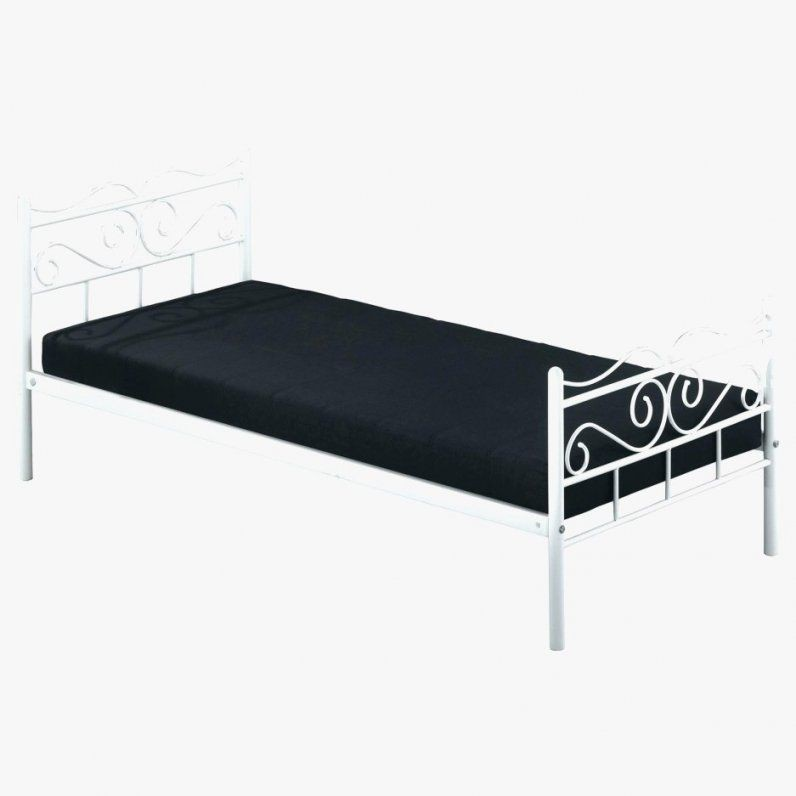 encasa metallbett 90x200 wei bettgestell bett schlafzimmer von bett metall wei 90x200 bild. Black Bedroom Furniture Sets. Home Design Ideas