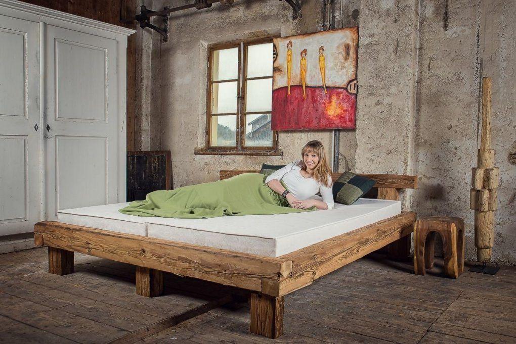 Bett Alte Holzbalken Altholz Balkenbett Balken Massiv Überlänge von Bett Aus Alten Holzbalken Bild