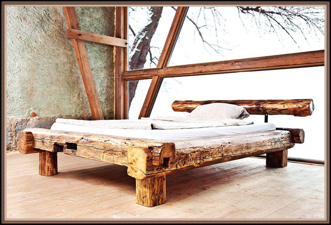 Bett Aus Alten Balken Referenz Für Wohn Möbel Avec Bett Aus Balken von Bett Aus Alten Holzbalken Photo