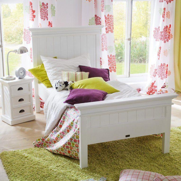 Bett Halifax Kids 90X200 Cm Fürs Kinderzimmer Pickupmöbel von Bett Landhausstil Weiß 90X200 Photo