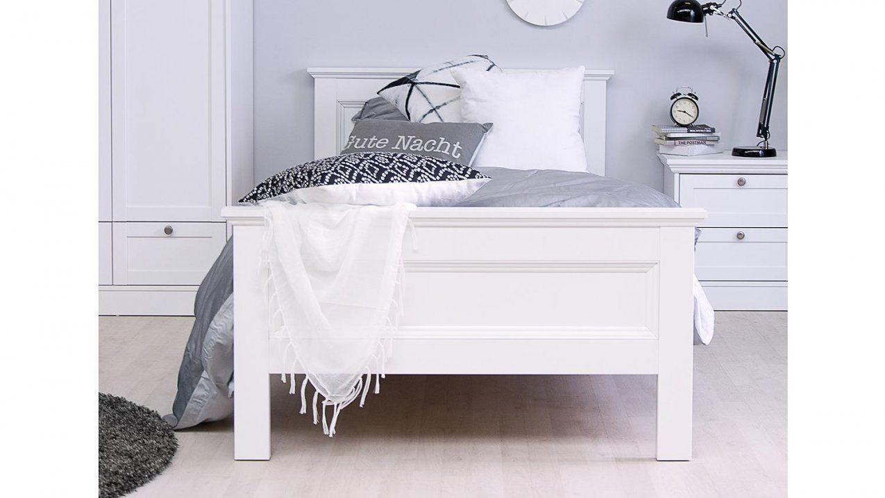 Bett Landwood Bettgestell In Weiß Mit Kopfteil 90X200 Cm Landhausstil von Bett Landhausstil Weiß 90X200 Photo