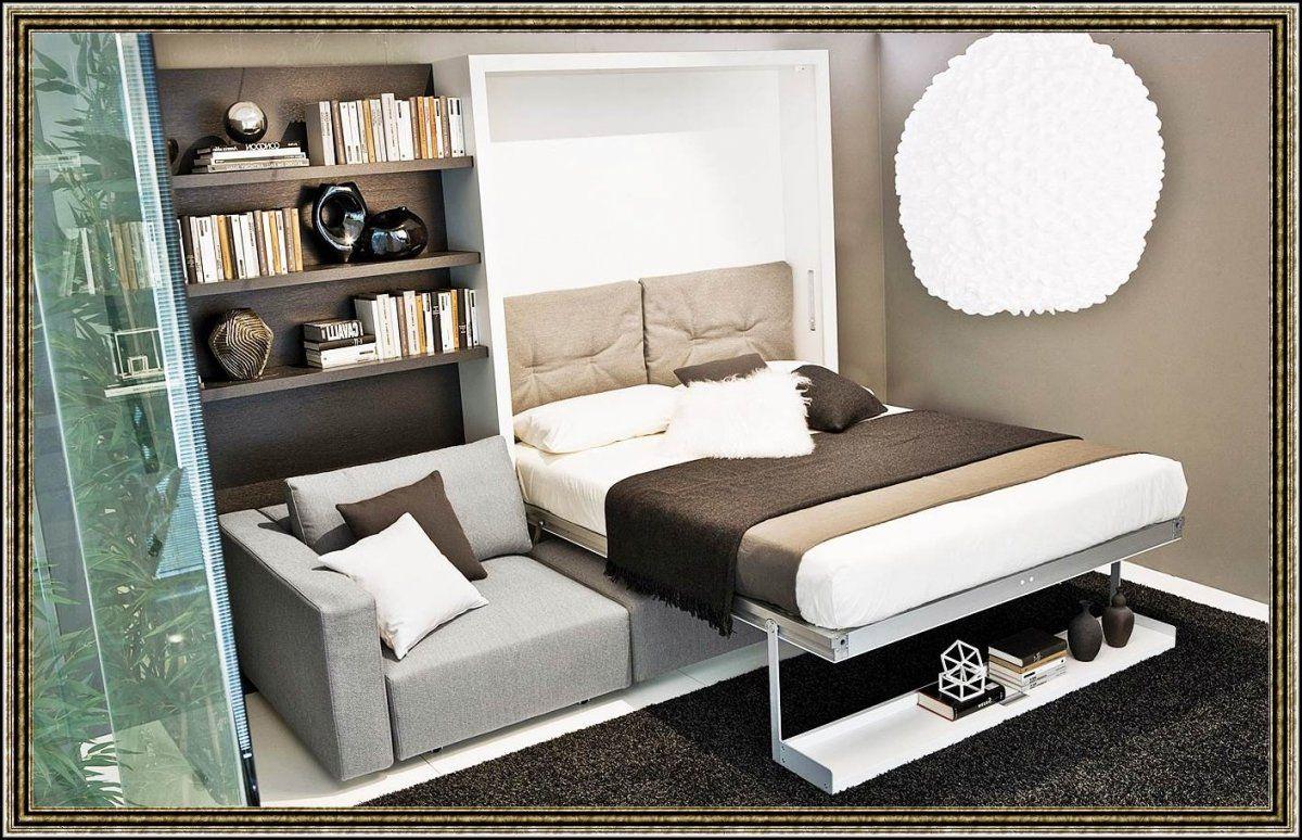 Bett Mit Integriertem Regal  Betten  House Und Dekor Galerie von Wohnwand Mit Integriertem Bett Bild