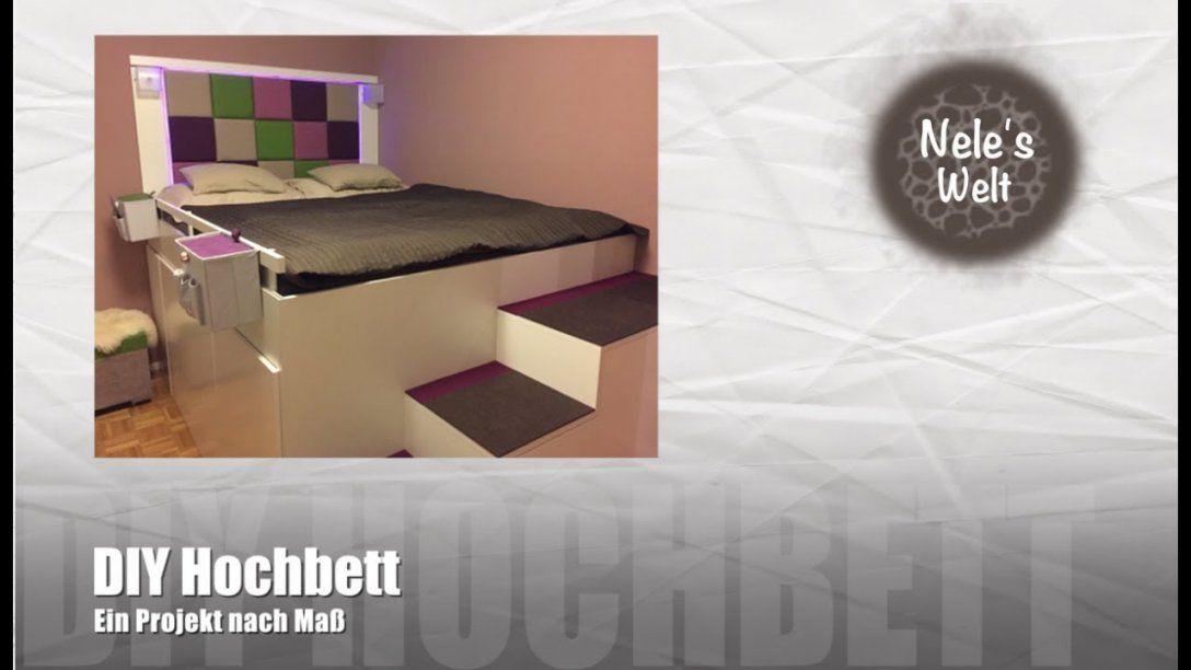 """Bett Selber Bauen """"ikea Hack"""" Diy Hochbett Aus Küchenschränken von Plattform Bett Selber Bauen Photo"""