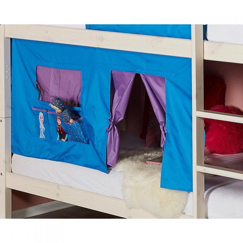 Bettvorhang Frozen (Die Eiskönigin Blau)  Dänisches Bettenlager von Vorhang Hochbett Dänisches Bettenlager Bild