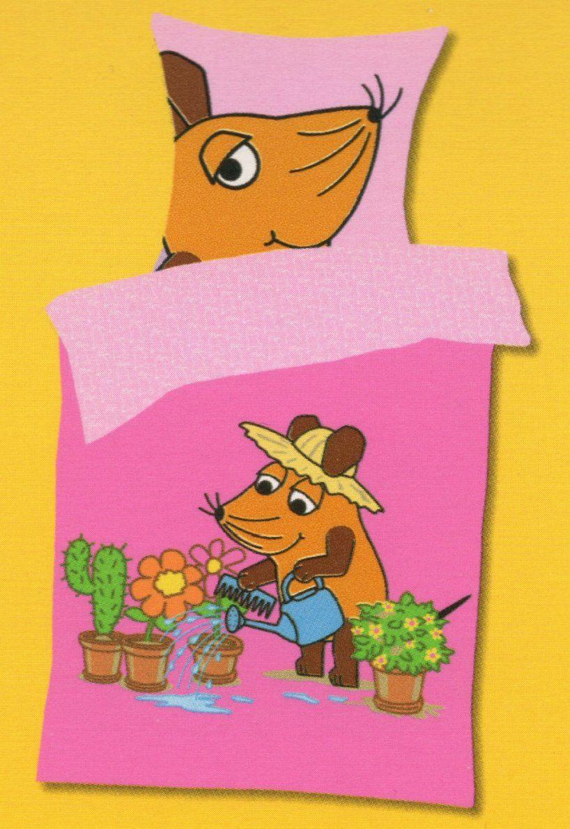 Bettwäsche Die Maus Im Garten  Sendung Mit Der Maus  135X 200Cm von Sendung Mit Der Maus Bettwäsche Bild
