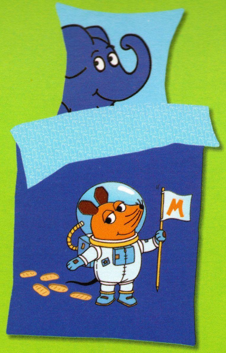 Bettwäsche Die Maus Im Weltall  Sendung Mit Der Maus  135X 200Cm von Sendung Mit Der Maus Bettwäsche Bild
