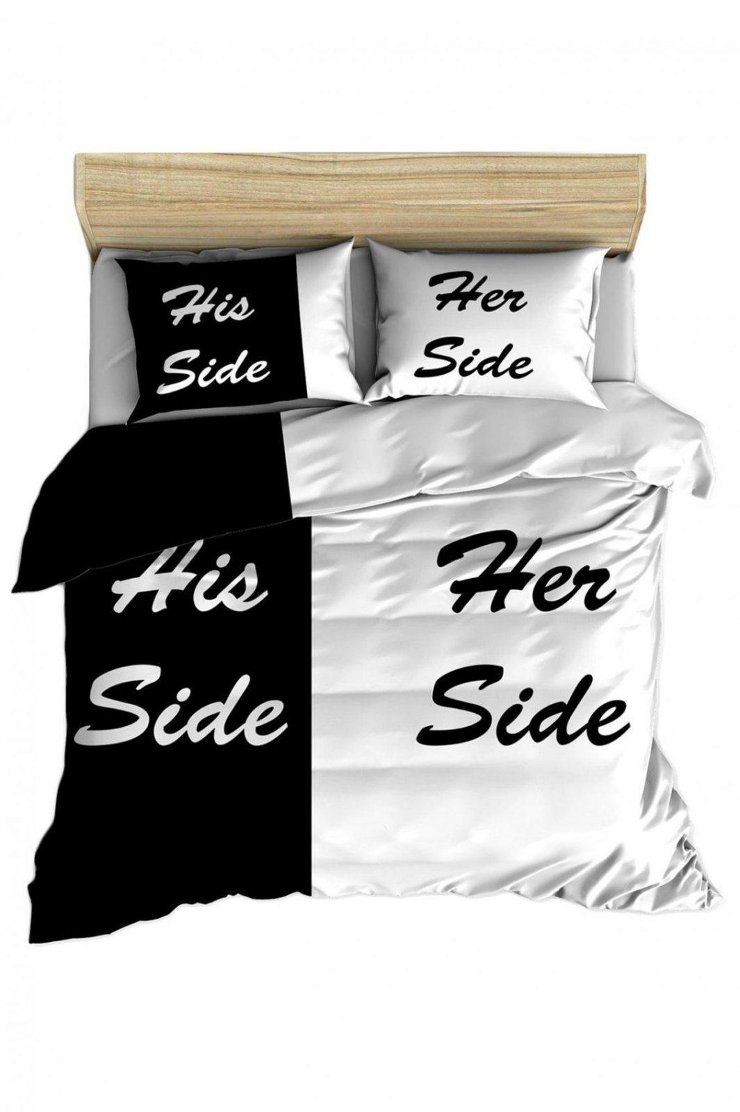 Bettwäsche His Side Her Side von Bettwäsche Her Side His Side Photo