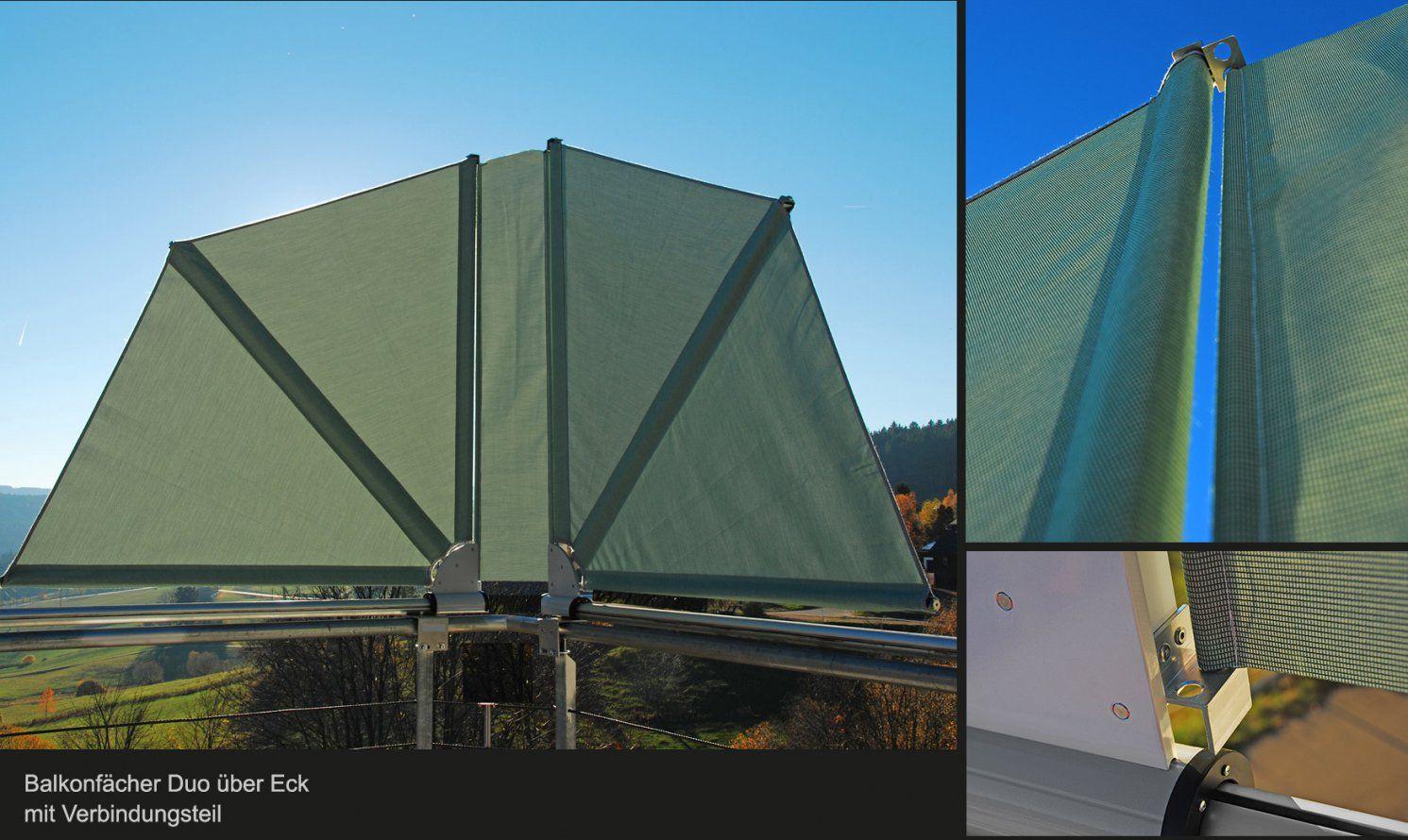 Bikatec Schirmsysteme  Balkonfächer  Wind Und Sichtschutz von Seiten Sichtschutz Balkon Ohne Bohren Photo