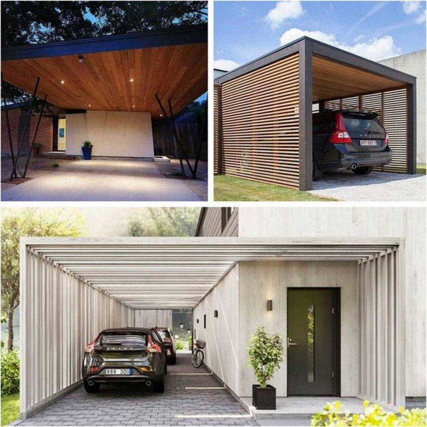 bild moderner carport holz mit blockgr en schrumpfen lapazca von carport am haus modern bild. Black Bedroom Furniture Sets. Home Design Ideas