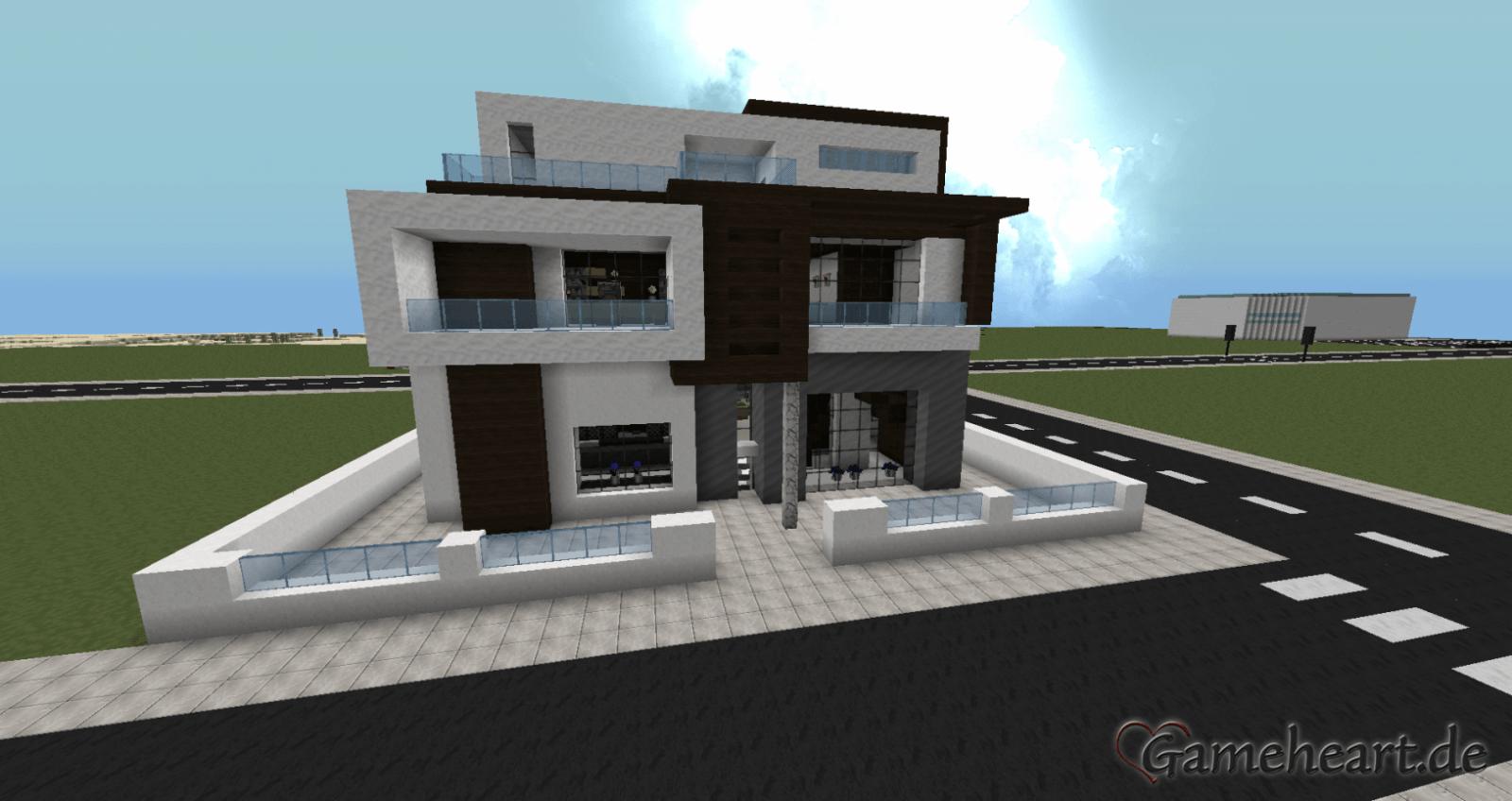 Bild Von Minecraft Häuser Modern Minecraft Haus Bauen Modernes Avec von Minecraft Modernes Haus Bauplan Photo