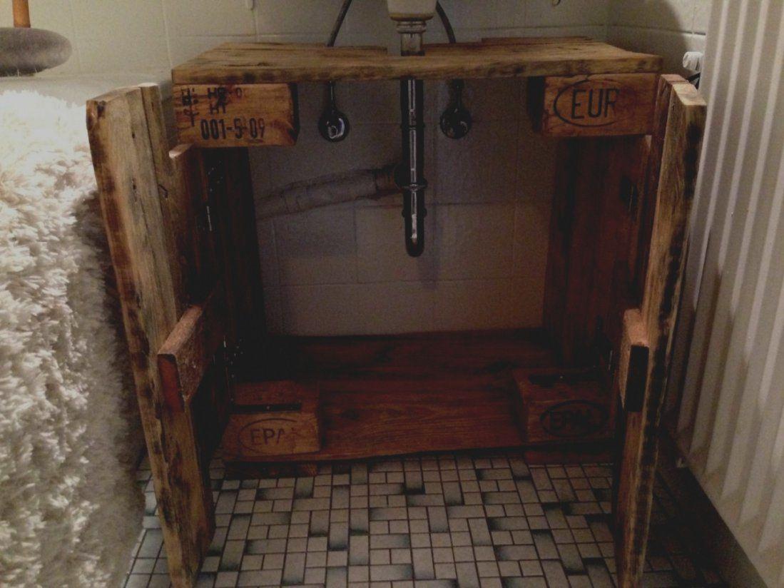 Fesselnd Bilder Von Bad Unterschrank Selber Bauen Waschtisch Holz Mit Von Bad  Unterschrank Selber Bauen Bild