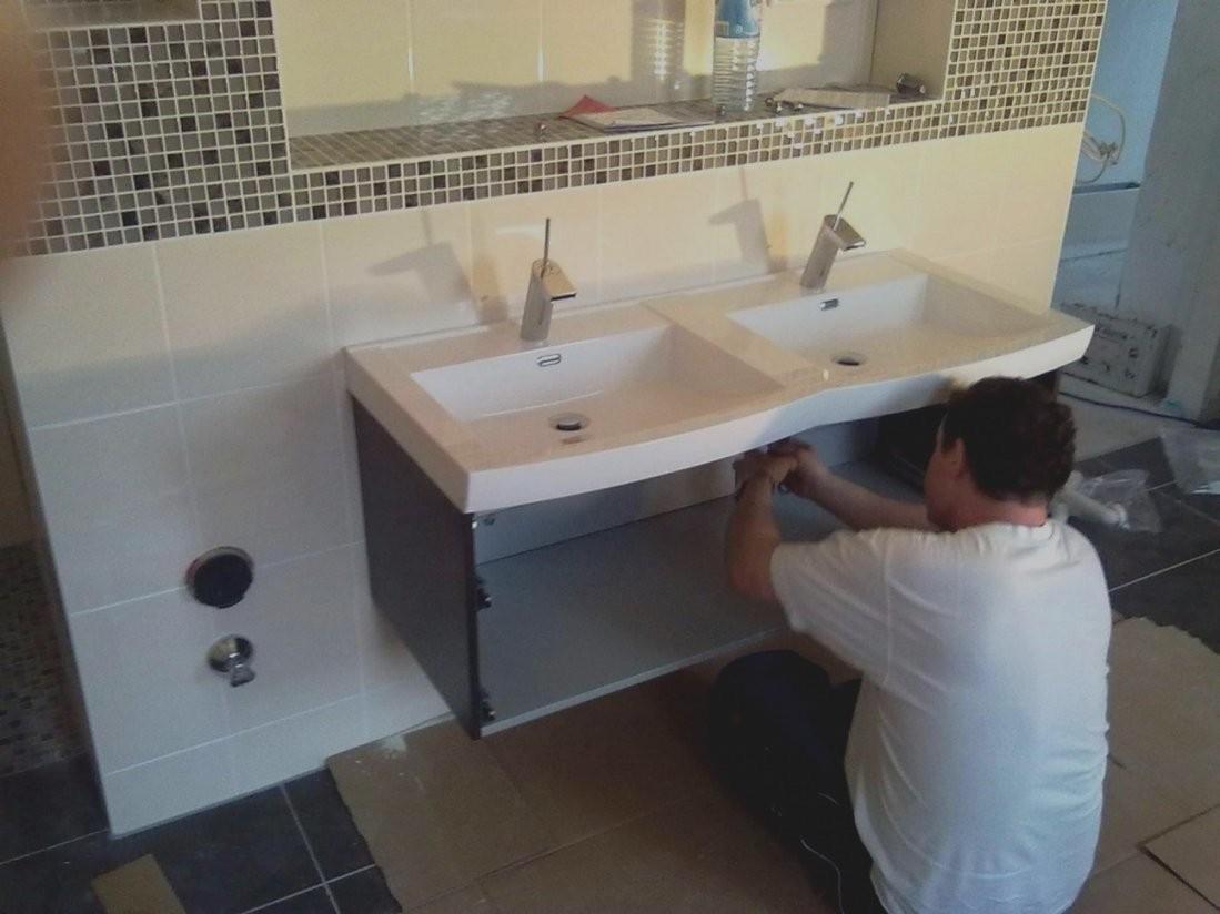 bilder von bad unterschrank selber bauen waschtisch holz mit von bad