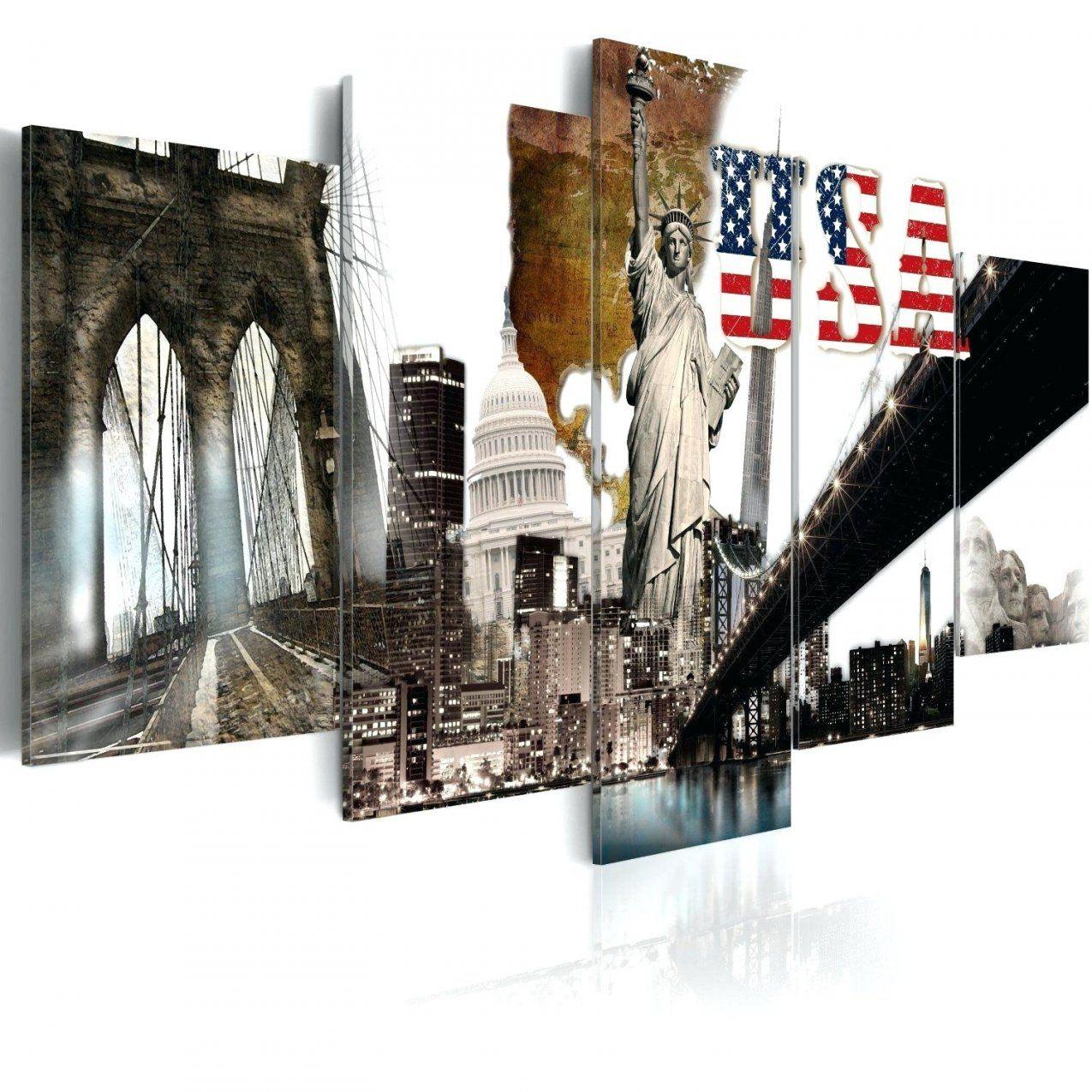 Bilder Xxl Format Fertig Aufgespannt Top Vlies Leinwand 5 Teilig Usa von Leinwandbilder Xxl 5 Teilig Bild