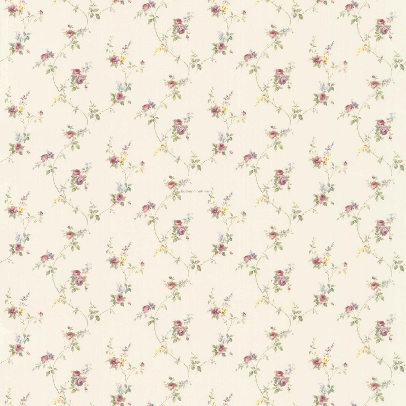 blumen tapeten 5 landhausstil florale u streifen tapete u borte von tapete landhaus floral. Black Bedroom Furniture Sets. Home Design Ideas
