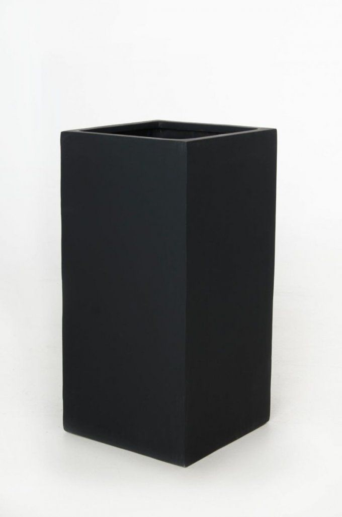 """Blumenkübel Pflanzkübel Fiberglas """"block"""" 80 Cm Anthrazit von Pflanzkübel 80 Cm Durchmesser Photo"""