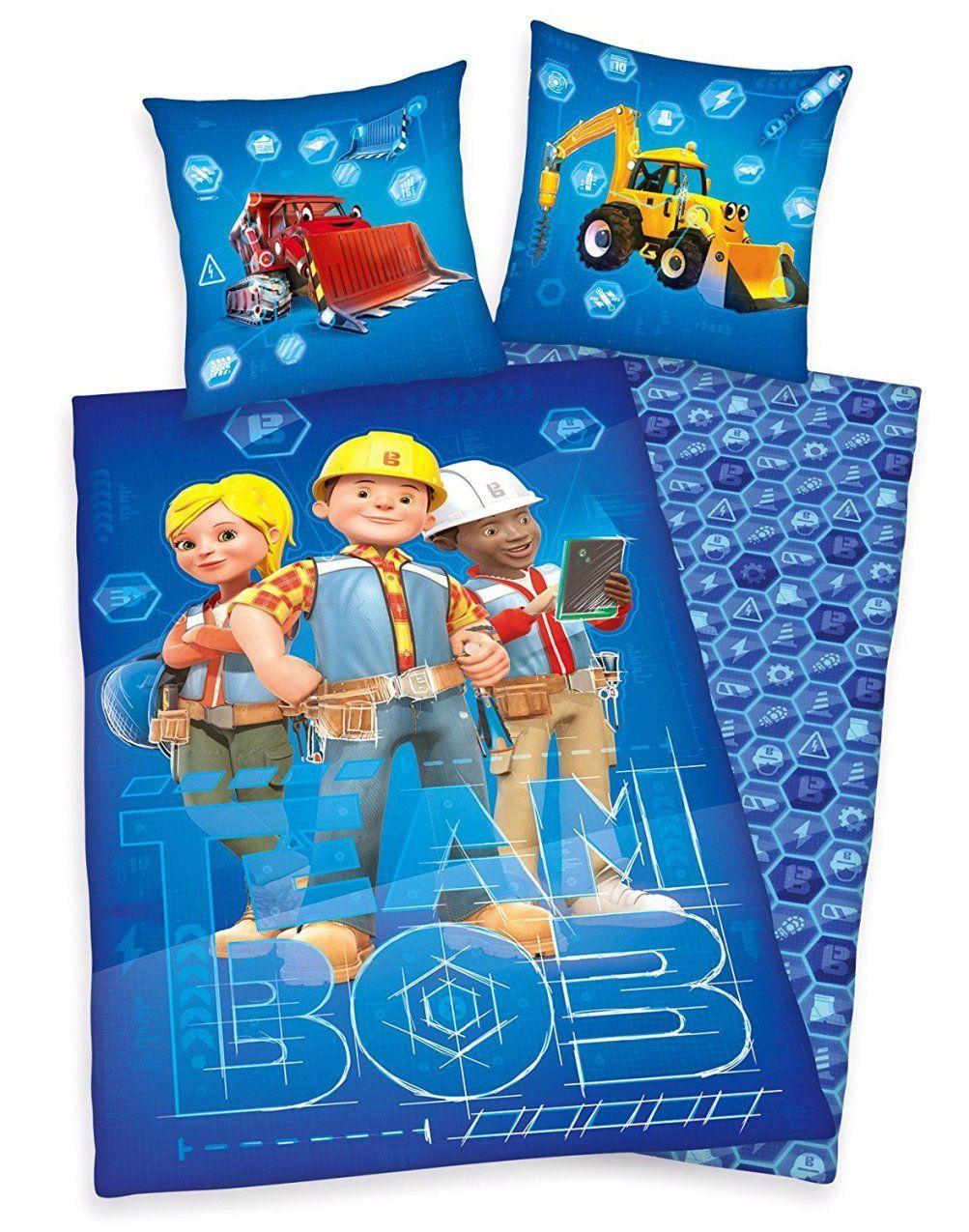 Bob Der Baumeister Bettwäsche 80X80Cm 135X200Cm 100% Baumwolle von Bob Der Baumeister Bettwäsche Bild