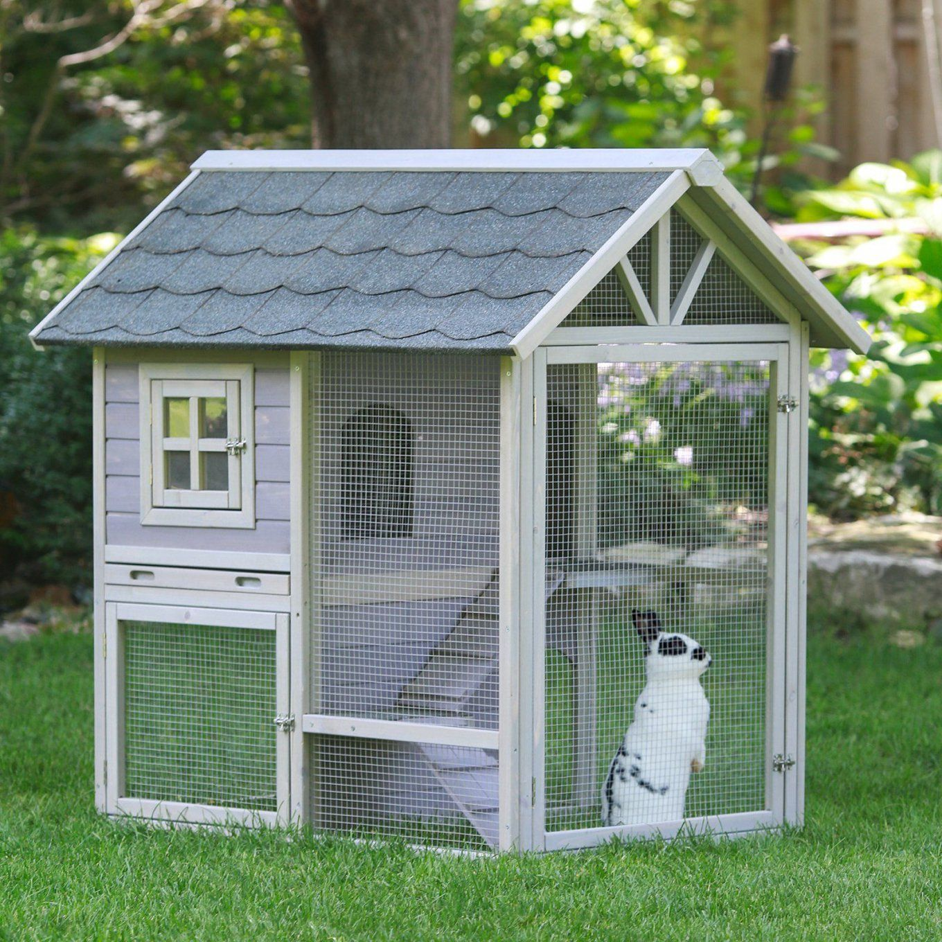 Boomer & George Tiered Outdoor Rabbit Hutch With Run  From von Boomer And George Rabbit Hutch Photo