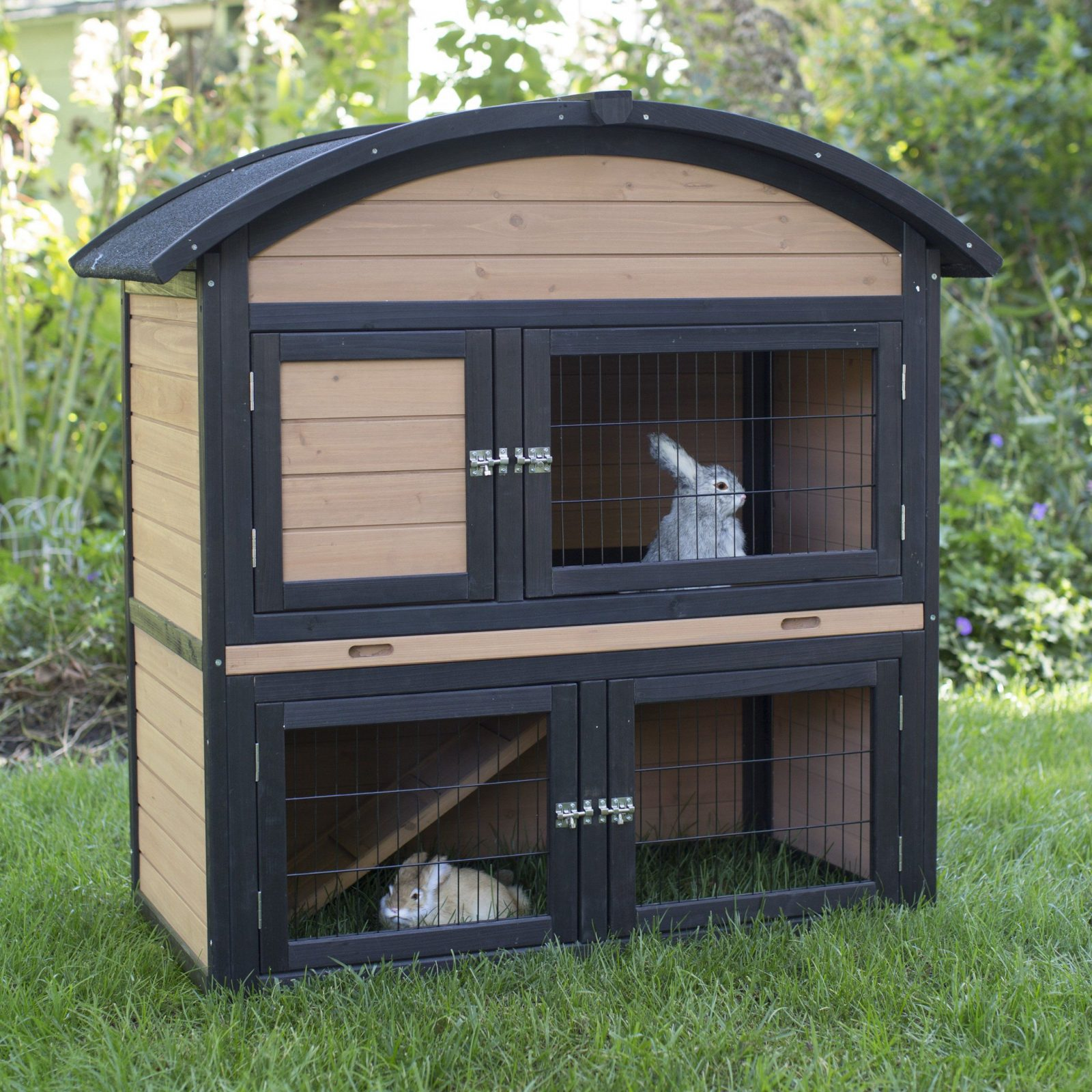 Boomer & George Tiered Outdoor Rabbit Hutch With Run  Hayneedle von Boomer And George Rabbit Hutch Bild