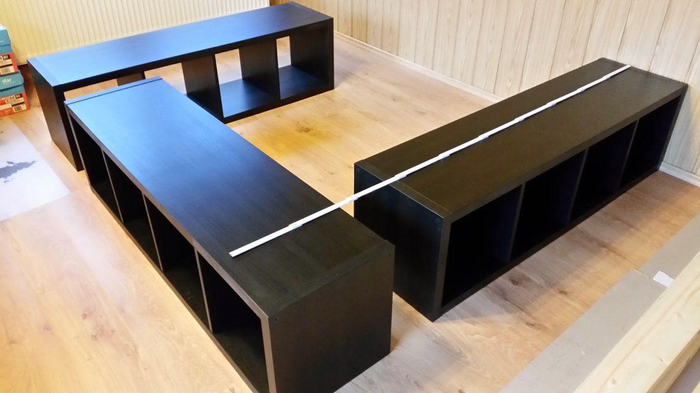 Buchie Ikea Hack  Aus Kallax Wird Ein Bett …  Pinteres… von Bett Selber Bauen Ikea Bild