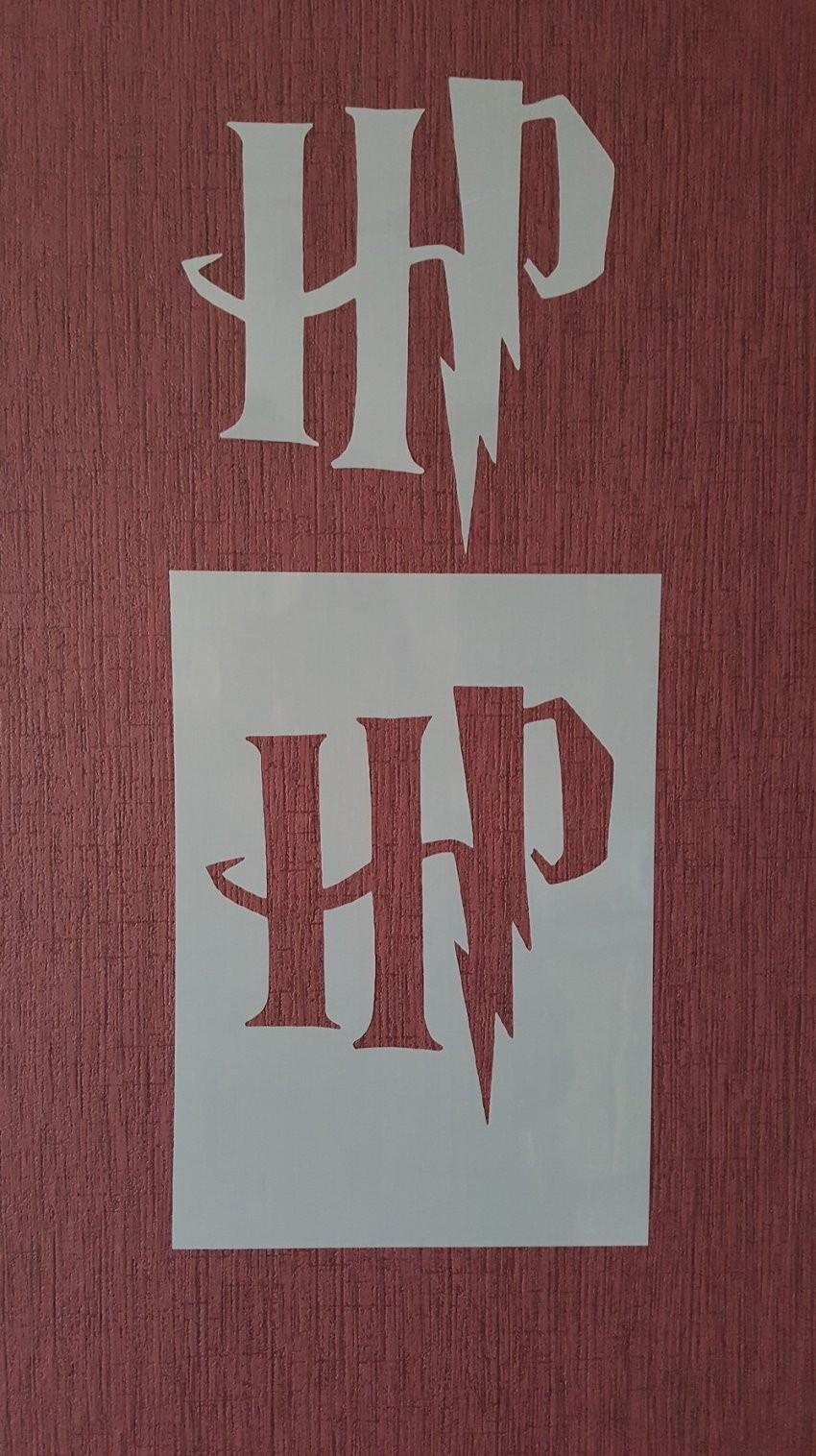 Buchstaben & Schriftzüge  2215 Schablone Harry Potter Stencil Wand von Buchstaben Schablonen Für Die Wand Photo
