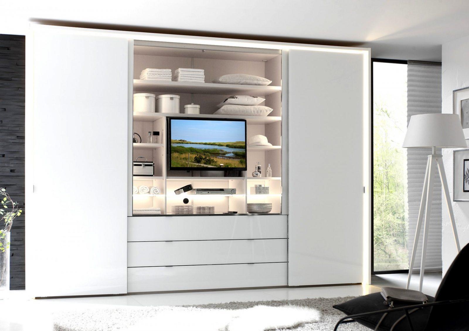 Charmant Kleiderschrank Mit Tv Fotos Die Kinderzimmer Design Von von Schlafzimmerschrank Mit Tv Fach Bild