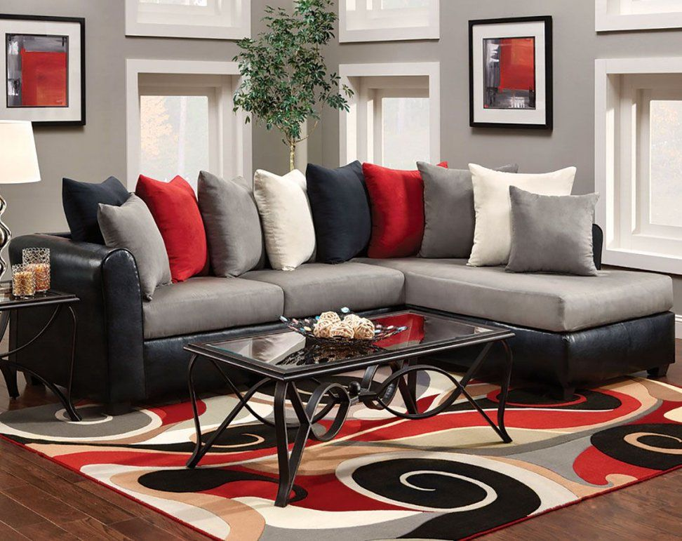 Chelsea Home Furniture 476700Secvb Corianne 2 Piece Sectional von Red And Black Furniture Bild