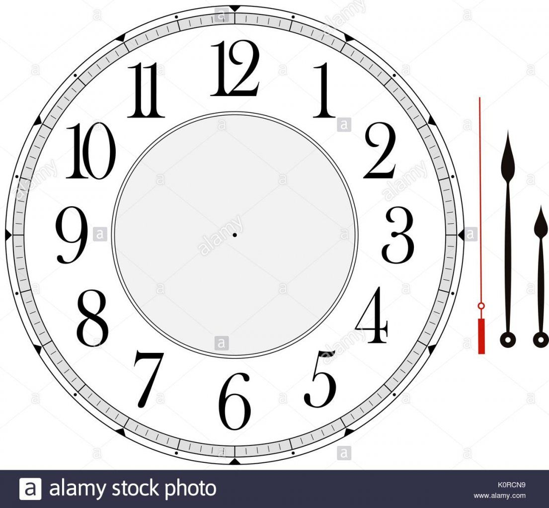 Clock Face Template With Hour Minute And Second Hands To Make Your von Make Your Own Clock Photo