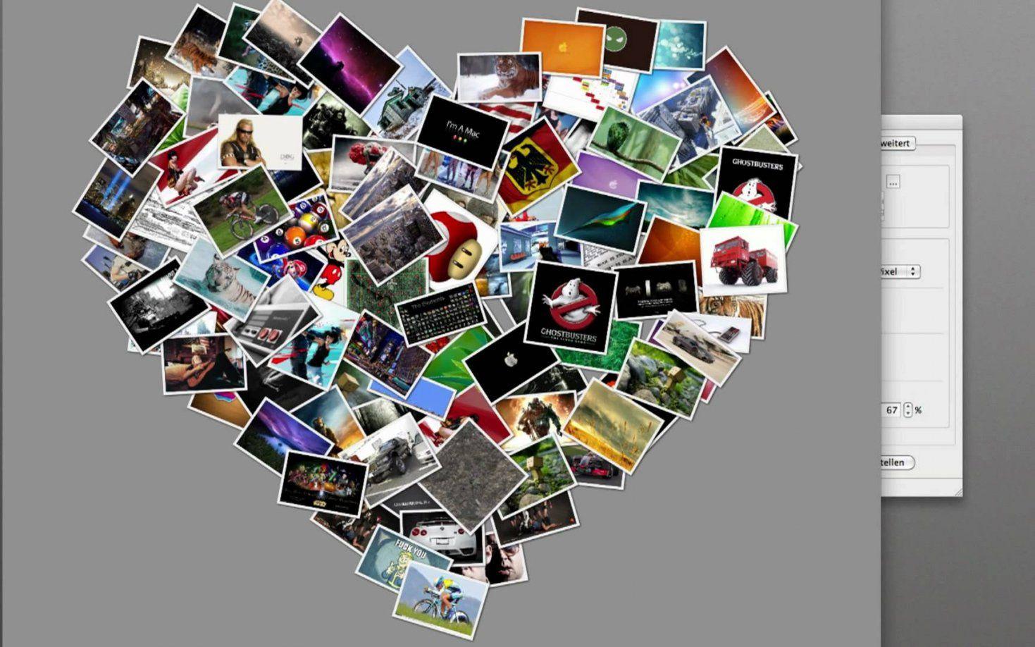 Collagen Erstellen Mit Shape Collage *hd* Deutschgerman Mac Os X von Fotocollage Auf Leinwand Selber Machen Photo