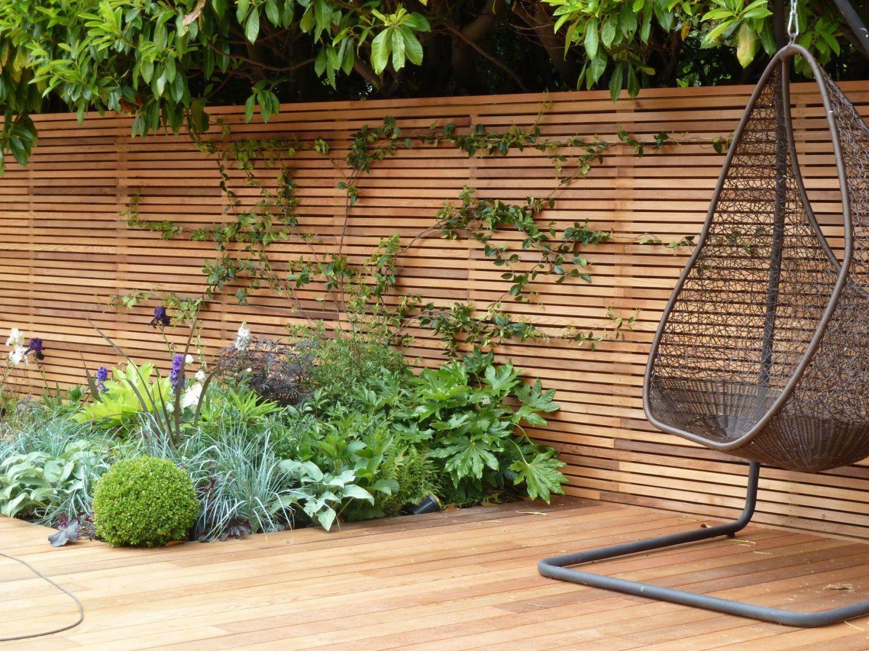 Contemporary Gardens With Horizontal Fencing  Google Search Sioox von Kleiner Zaun Für Vorgarten Photo
