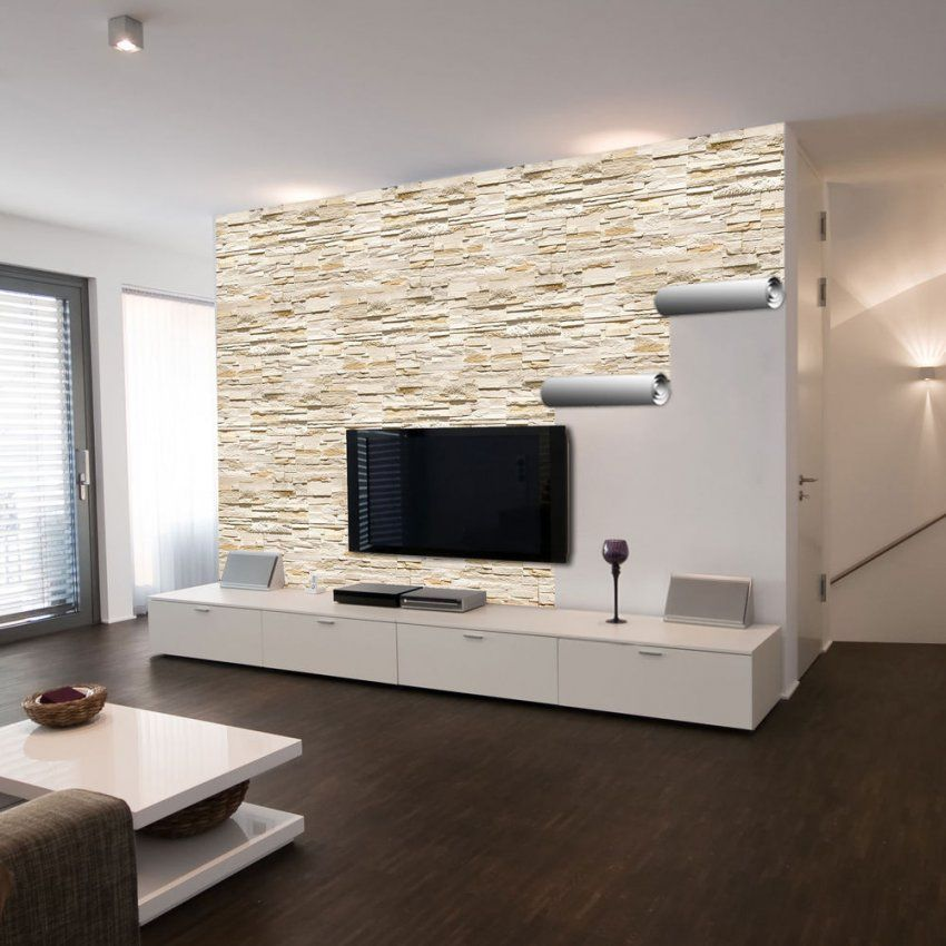 Creative Inspiration Wandgestaltung Wohnzimmer Tapete  Home Design von Wandgestaltung Mit Tapeten Wohnzimmer Photo