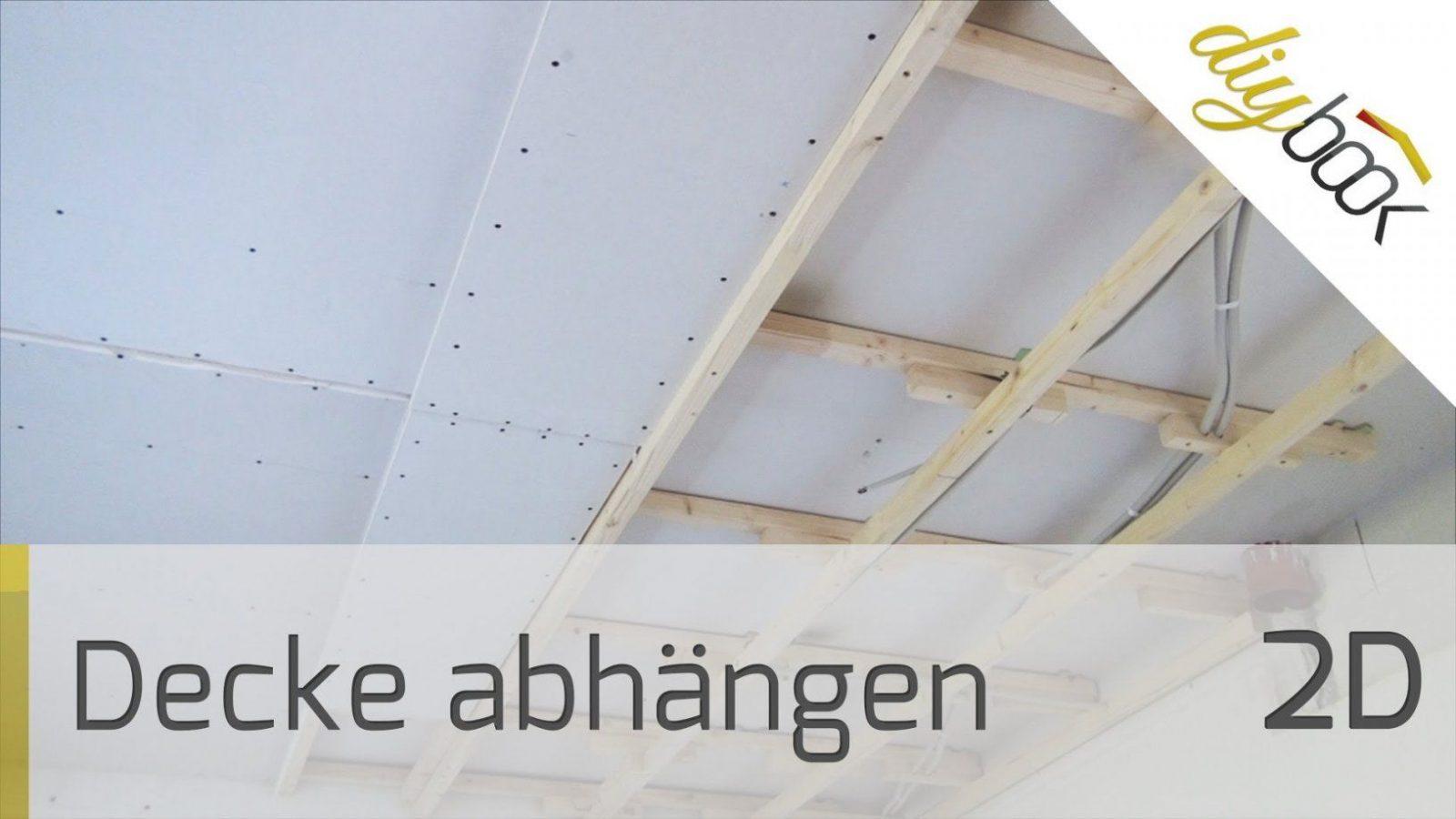 Decke Abhängen  2D  Youtube von Abstand Led Spots Decke Bild
