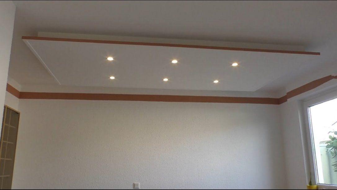 Decke Abhängen Und Led Strahler Und Led Strips Light Einbauen  Youtube von Abgehängte Decke Selber Bauen Photo