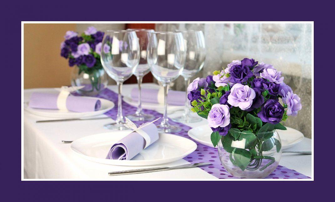 Deko Idee Hochzeit In Lila – Servietten – Hochzeit Geburtstag von Tischdeko Hochzeit Lila Weiß Bild