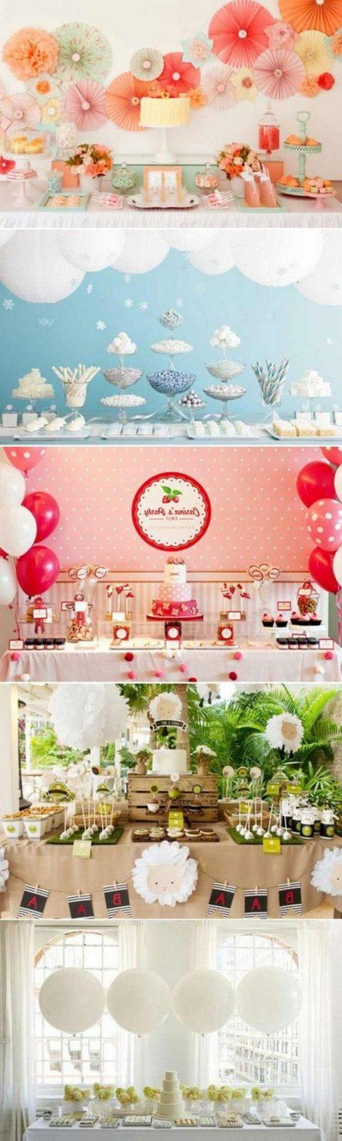 Auffallende Tischdeko Mit Decoupage Luftballons Ananasfruchten Und