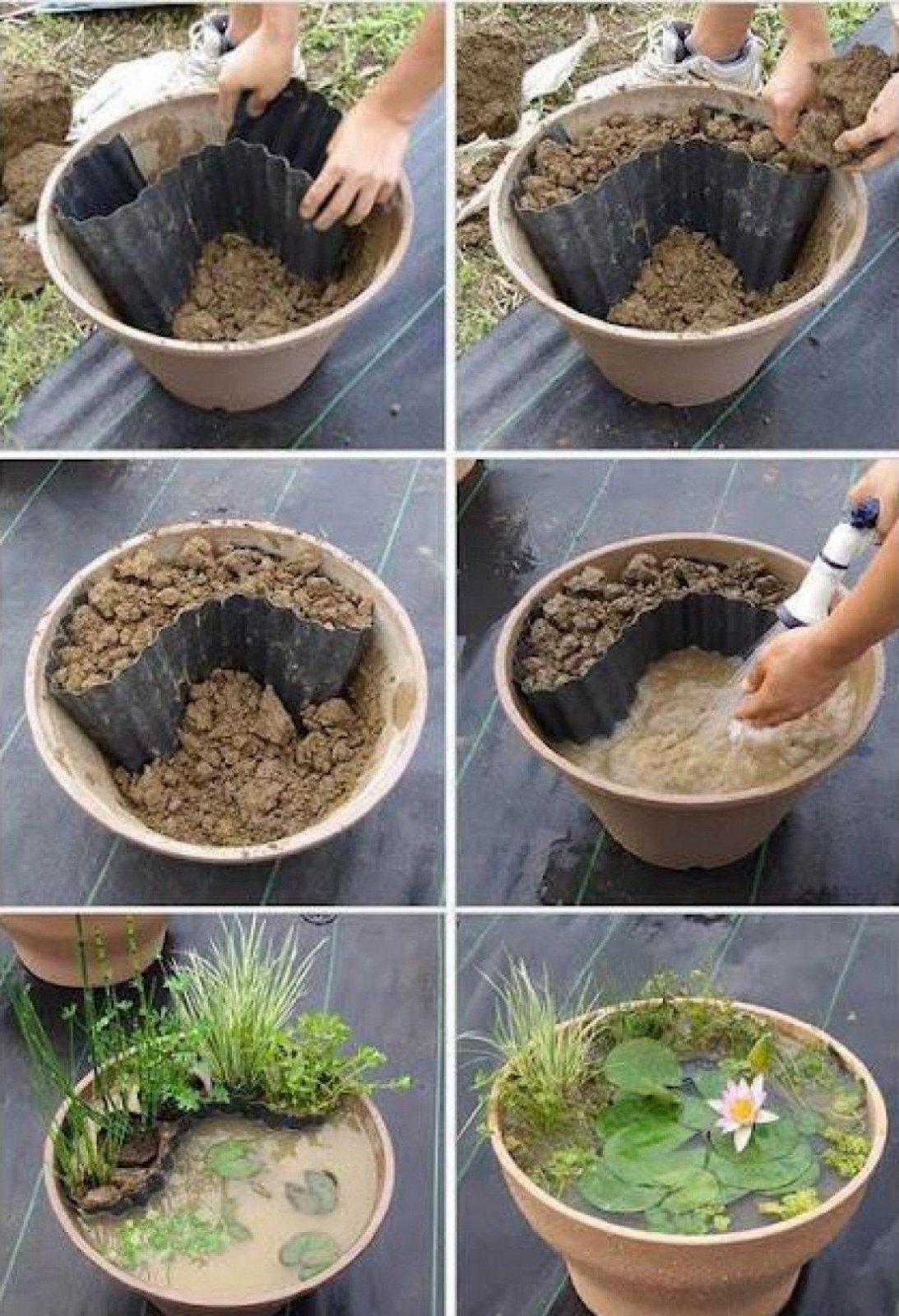 Dekoration Garten Selber Machen Wunderbar Mini Gartenteich Selber von Deko Für Garten Selber Machen Photo