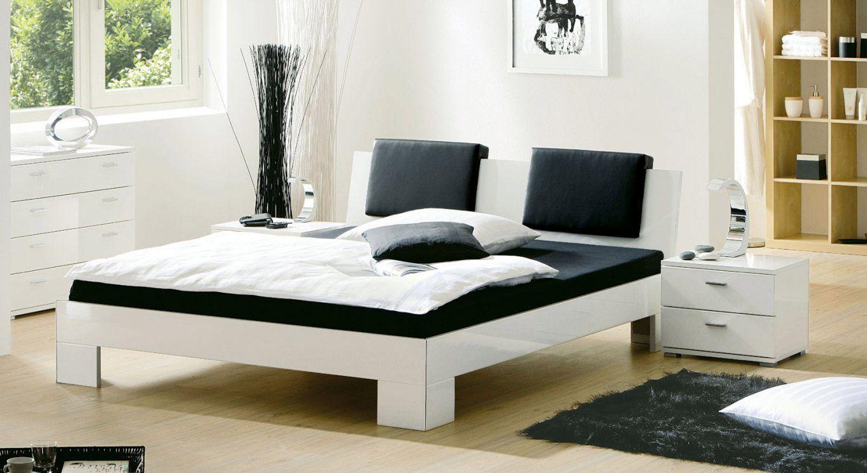 Design Bett Black & White Auf Rechnung Bestellbar  Betten von Bett Weiß Ohne Kopfteil Bild