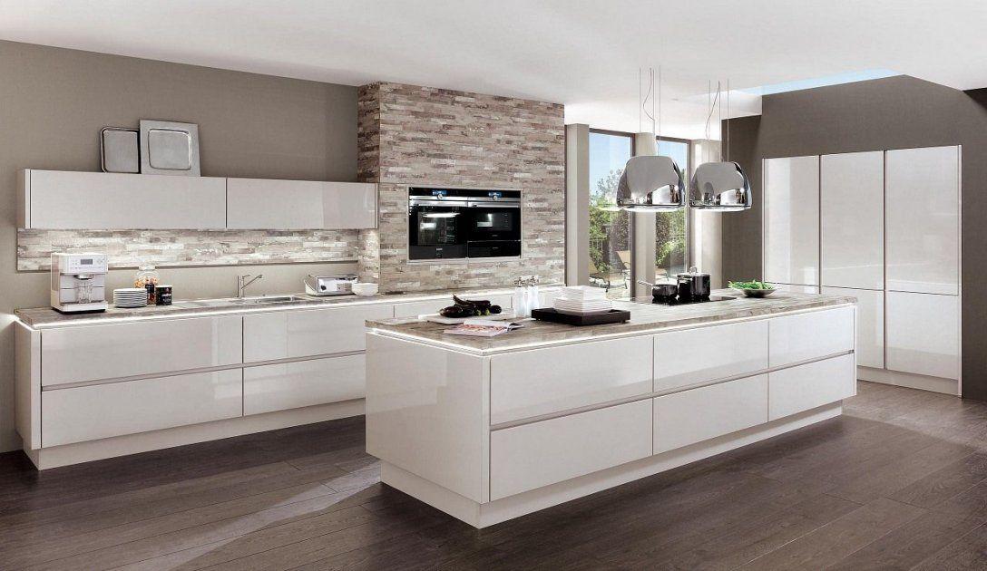 Design Einbauküche Norina Weiss Hochglanz Lack Küchen Quelleweiße von Weiße Küche Mit Weißer Arbeitsplatte Bild