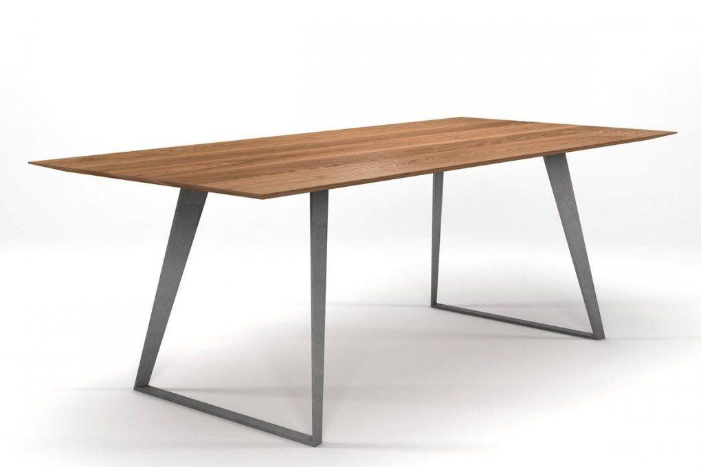 Design Esstisch Eiche Massiv Nach Maß [Holzpiloten] von Tischplatte Outdoor Nach Maß Bild